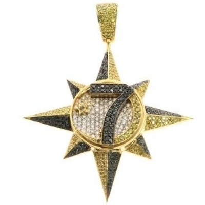 Hip Hop Diamond Star Pendant