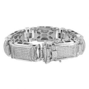 white gold mens hip hop bracelet