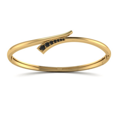 fancy black diamond bangle bracelet