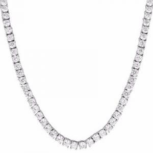 solitaire hip hop diamond necklace