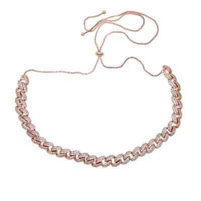 cuban link chain choker necklace