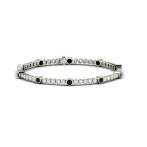 fancy black and white diamond tennis bracelet