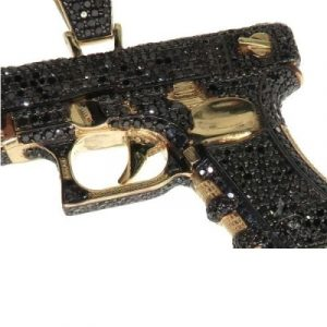 black diamond gun pendant