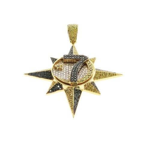 hip hop diamond star pendant
