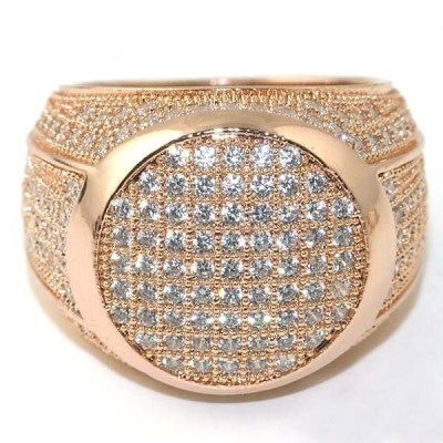 men hip hop diamond ring