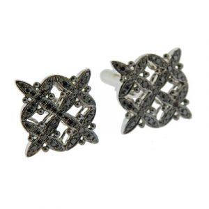 black diamonds cufflink