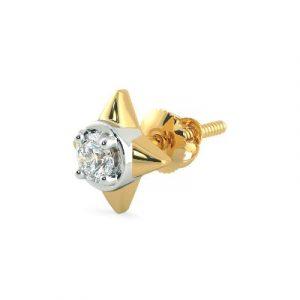 mens single stud diamond earring