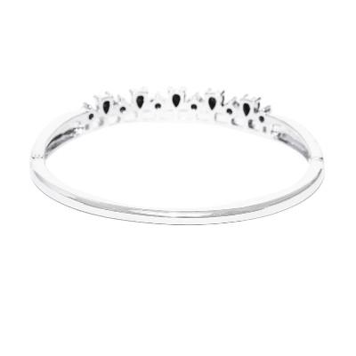 natural black diamond bangle bracelet