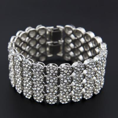 White diamonds hip hop bracelet
