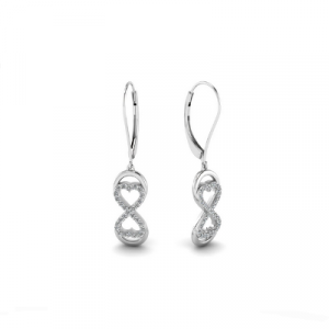 infinity diamond dangle earrings