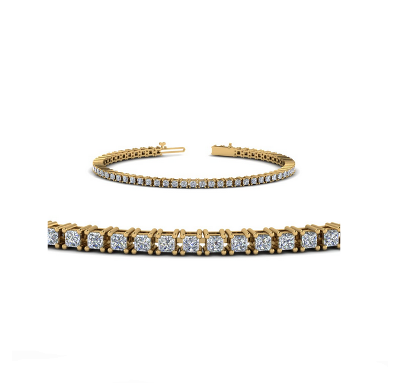 princess cut diamond tennis bracelet