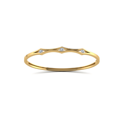 white diamonds bangle bracelet