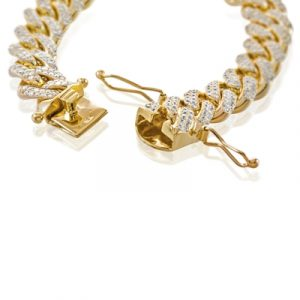 diamond cuban link hip hop bracelet