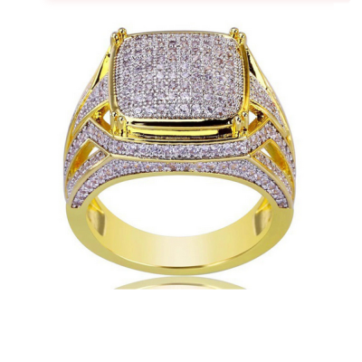 big hip hop diamond ring men's