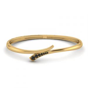 fancy black diamond bangle bracelet