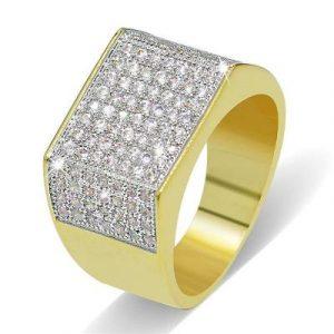 luxury hip hop diamond ring
