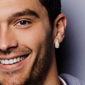 diamond hoop earring for men