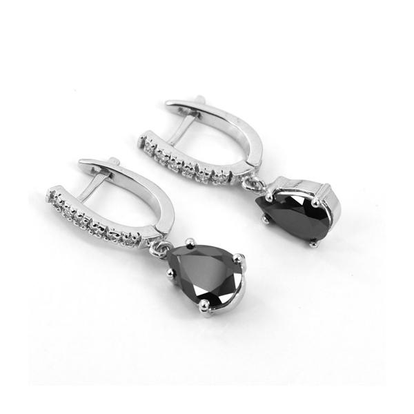 pear cut dangle earrings
