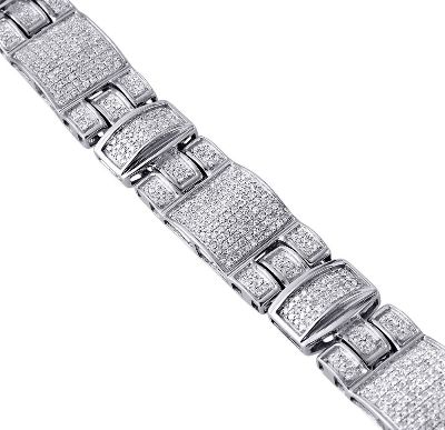 white gold hip hop diamond bracelet