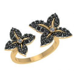 Antique black diamond ring
