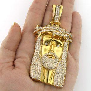jesus piece face hip hop pendant