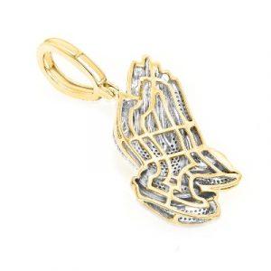 praying hands hip hop diamond pendants