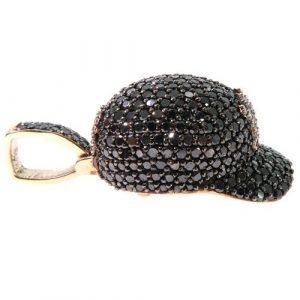baseball cap diamond pendant
