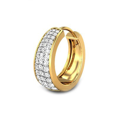 diamond hoop earring for men