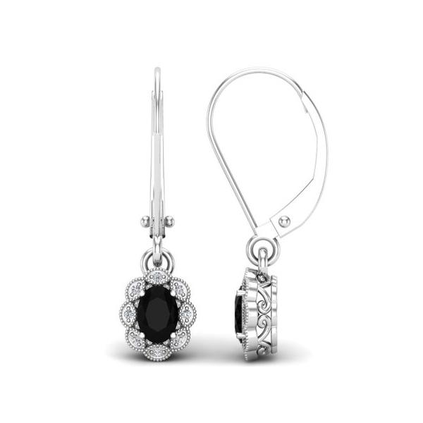 oval cluster earrings