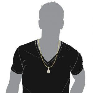 money bag hip hop diamond pendant
