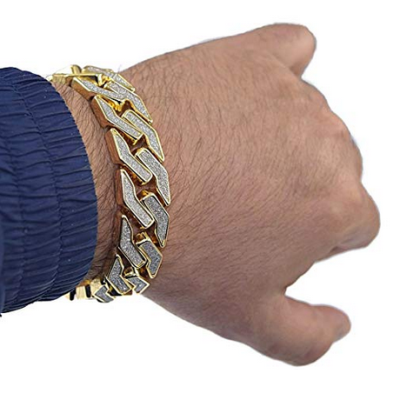 cuban link chain hip hop bracelet