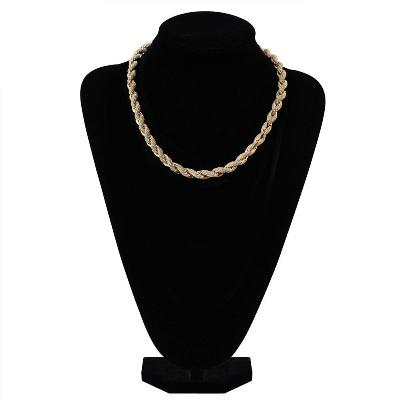 hip hop twist chain necklace
