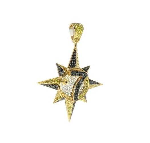 hip hop hip hop diamond star pendant star pendant