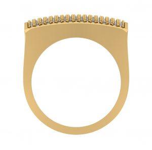square hip hop diamond ring