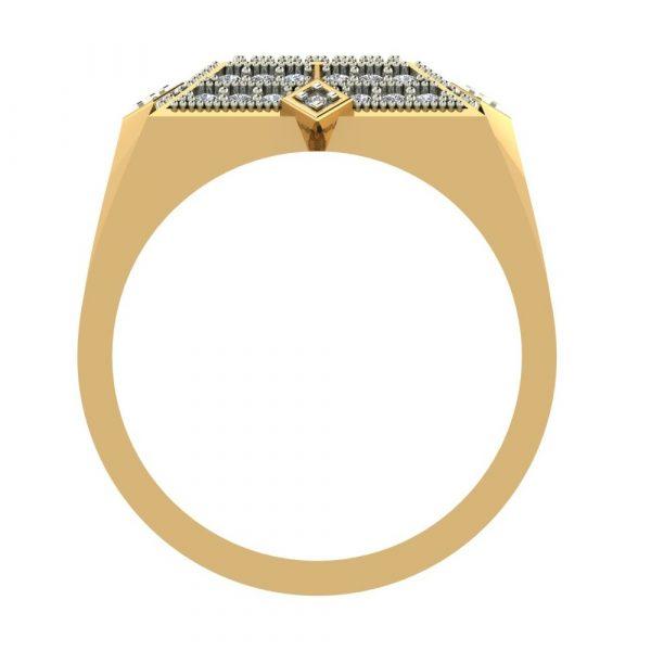hip hop diamond men's ring