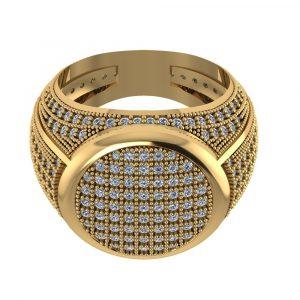 men hip hop diamond ring