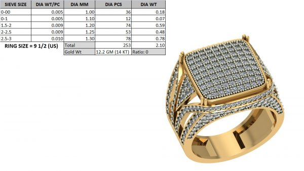 big hip hop diamond ring men's