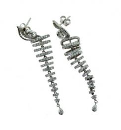 drop diamond dangle earrings