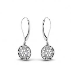 flower diamond dangle earring