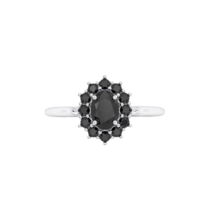2 ct oval cut black diamond engagement ring