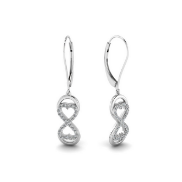 infinity diamond dangle earrings