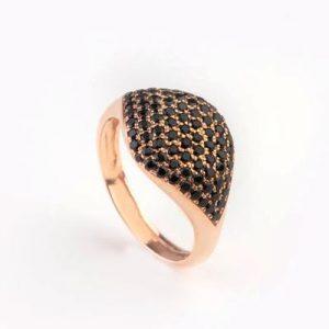 fancy black diamond engagement ring