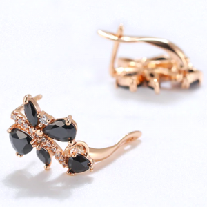 fancy black diamond earrings
