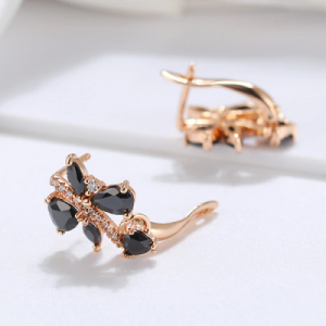 fancy black diamond earrings