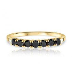 0.50ct small black diamond ring