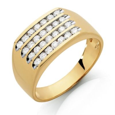 white diamond men's ring