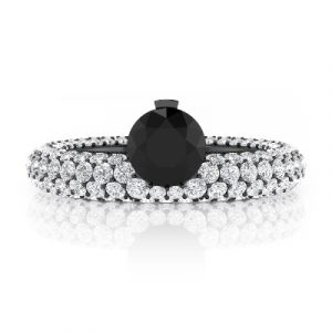 black and white diamonds engagement rings