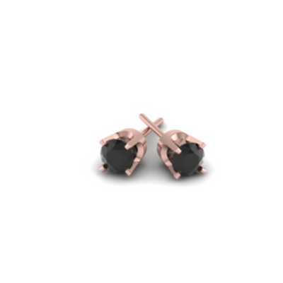 black diamonds stud earring