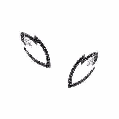 fancy black diamond earring