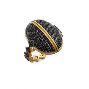 black diamond hip hop ring